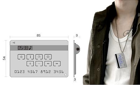 MP3 Carte de crédit