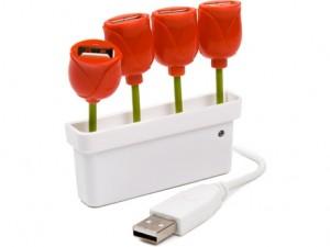 Diviseur USB en tulipe