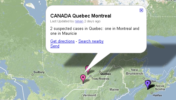 La grippe porcine au Québec