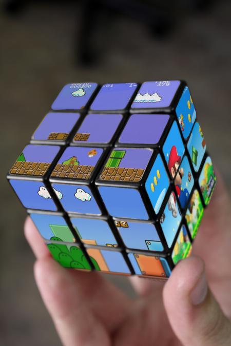 Mario Bros Rubik Cube