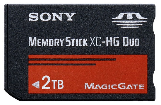 Sony memory stick 2 TB