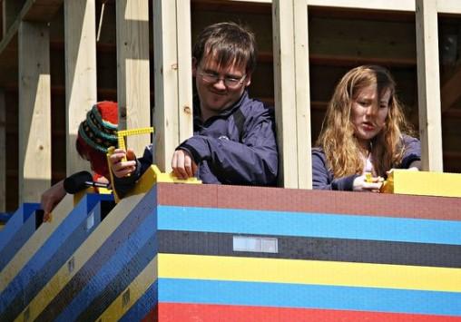 Une maison fait en LEGO