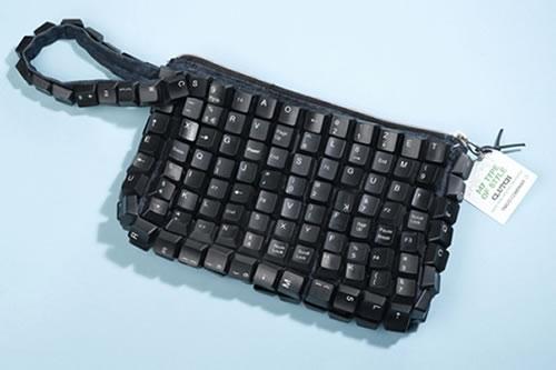 Recycled Keyboard Clutch Bag