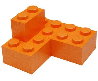 Blocs Lego géant orange