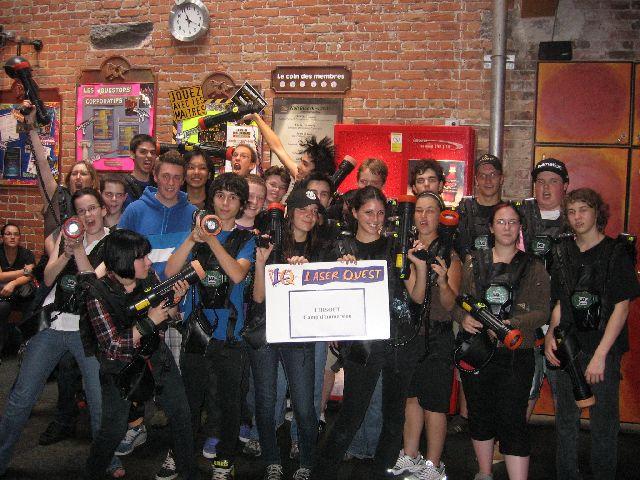 Campeurs Ubisoft de l'été 2009 chez Laserquest - Camp d'immersion Ubisoft