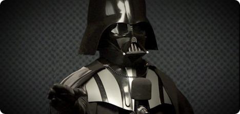 Darth Vader dans le studio d'enregistrement