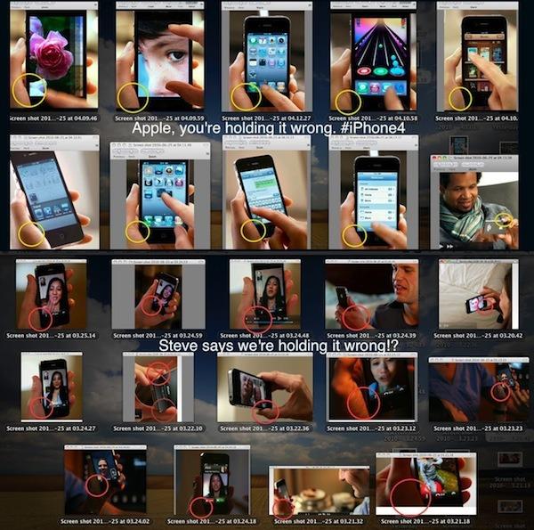 Gallerie d'image de publicité de Apple tenant mal le iPhone 4