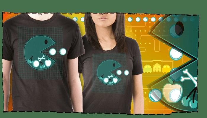 t-shirt d'une radiographie de Pacman