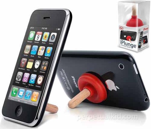 iPlunge- Support à iPhone en débouche toilette