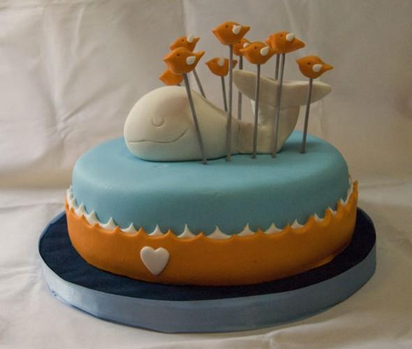 Gâteau de la baleine surchargée de Twitter