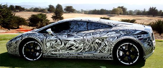 Une Lamborghini Gallardo Peinturée Au Sharpie