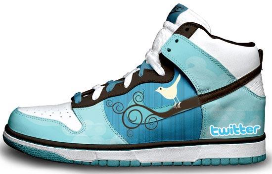 Les souliers Nike Dunk édition Twitter