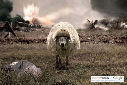 Battlesheep   Publicité imprimée de Google en Turquie