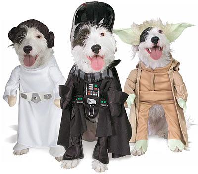 Costumes pour chien de Star Wars Leia, Vader et Yoda