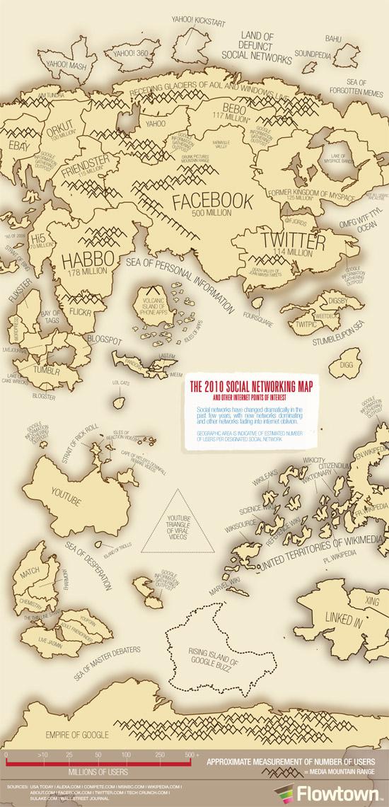 La carte géographique de l'Internet