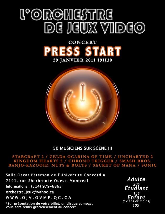 Orchestre jeux vidéo - Press Start