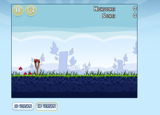 Angry Birds sur Google Chrome