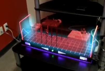 console de jeu holographique