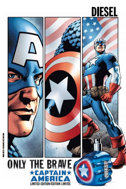 Le parfum Only the brave Captain America de Diesel