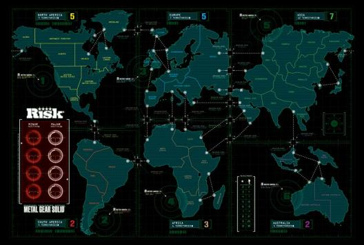 Plateau du jeu Risk Metal Gear Solid