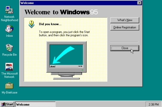 Windows 95 - Un geek en 1997