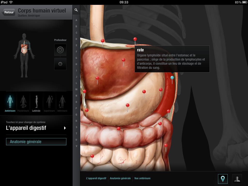 Le corps humain version iPad
