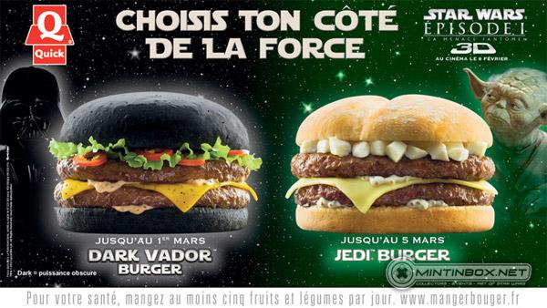 """Votre Burger, vous le désirez """"Jedi"""" ou """"Dark Force""""?"""