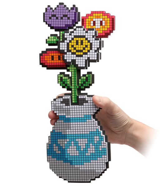 Un bouquet de fleurs en 8-bit - Idées cadeaux geek St-Valentin