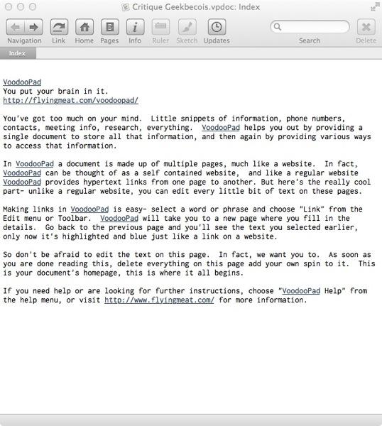 VP Page Texte