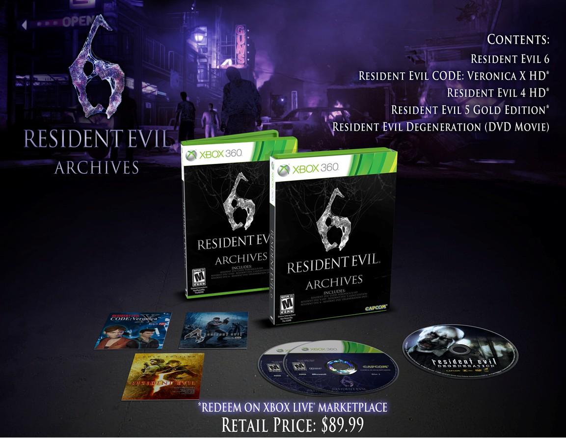 Petit rappel: Les éditions de collection de Resident Evil 6