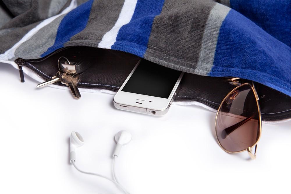 La serviette de plage pour gadgets