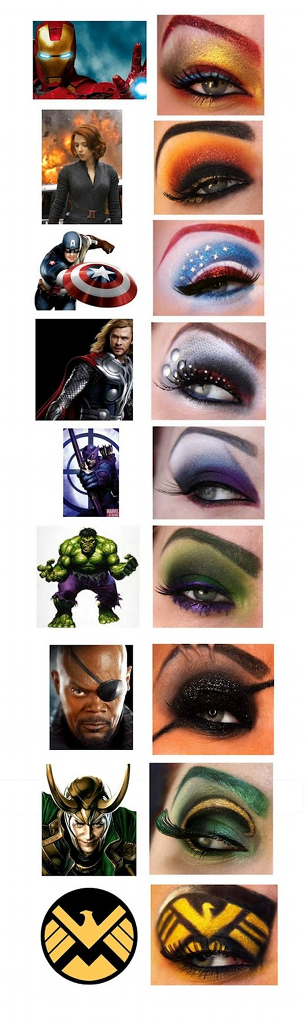 The Avengers - [Maquillage] Cosplay pour les yeux
