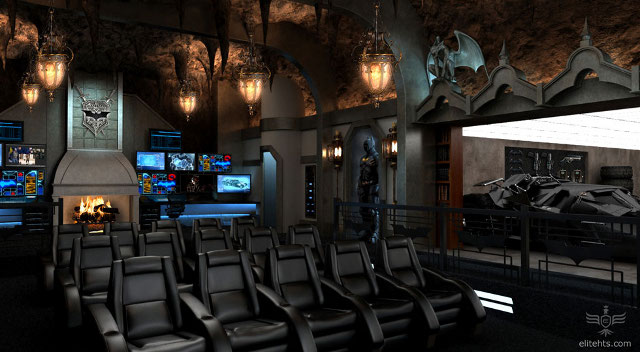 Une salle de cinéma à la Dark Knight