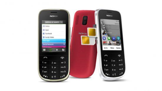 Le Nokia Asha 202, au format téléphone classique avec double SIM