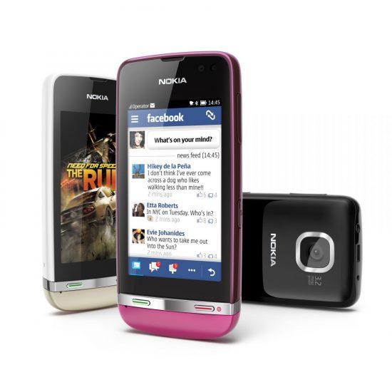 Nokia Asha 311 en trois couleurs