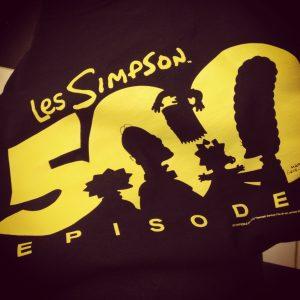 T-shirt du 500e épisode des Simpsons