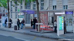 L'arrêt de bus Osmose, de Metalco