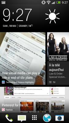 Un exemple de contenu BlinkFeed