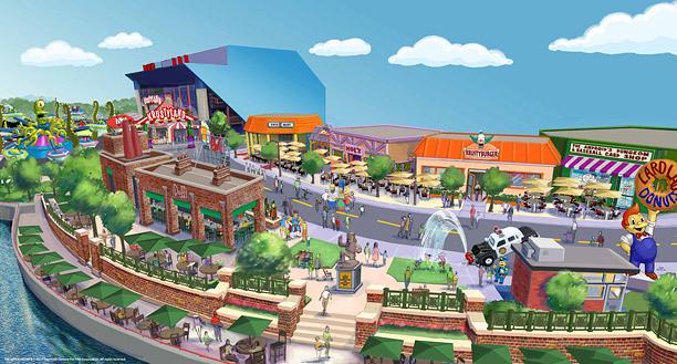 Un parc d'attractions dédié au Simpsons par Universal Studios