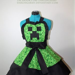 Tablier Minecraft Creeper