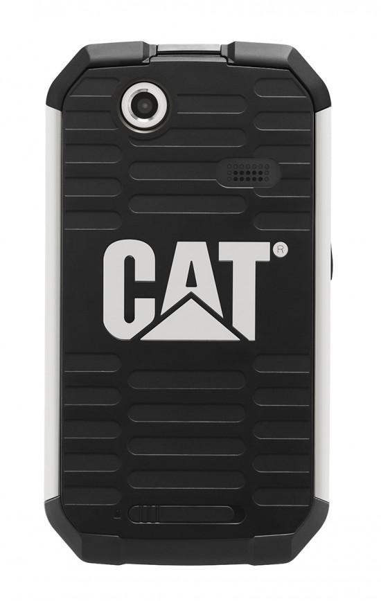 Le dos de l'appareil, avec son discret (voire quasi-invisible) logo CAT