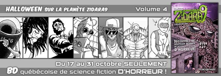 La BD Zidara9 Volume 4 arrive juste à temps pour l'Halloween