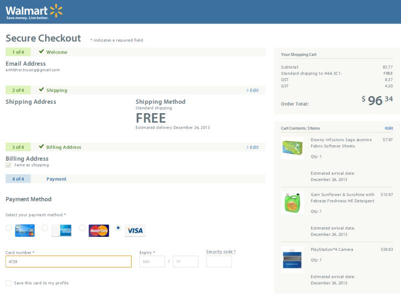 Walmart: Redesign du site e-commerce et livraison gratuite en tout temps