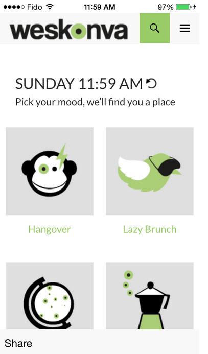 Weskonva: nouvelle App cool et utile pour sortir à Montréal