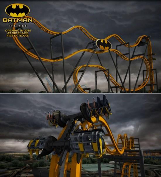 Le manège Batman The Ride - Six Flags Fiesta au Texas