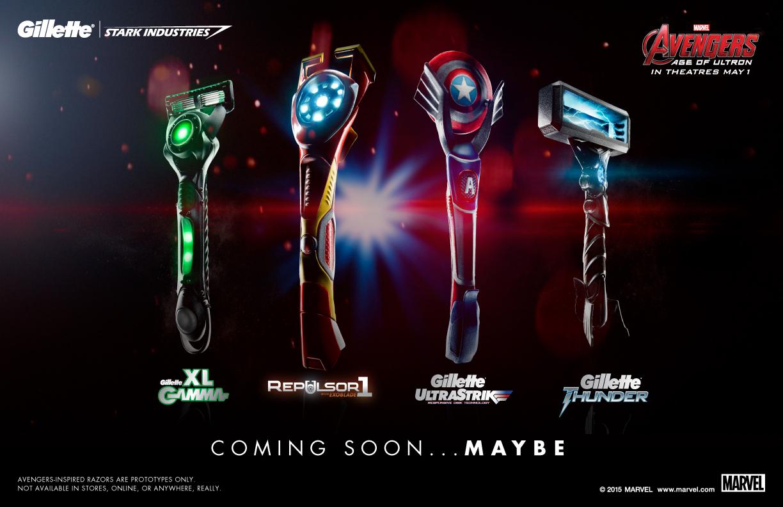 Gillette Avengers-inspired razors group