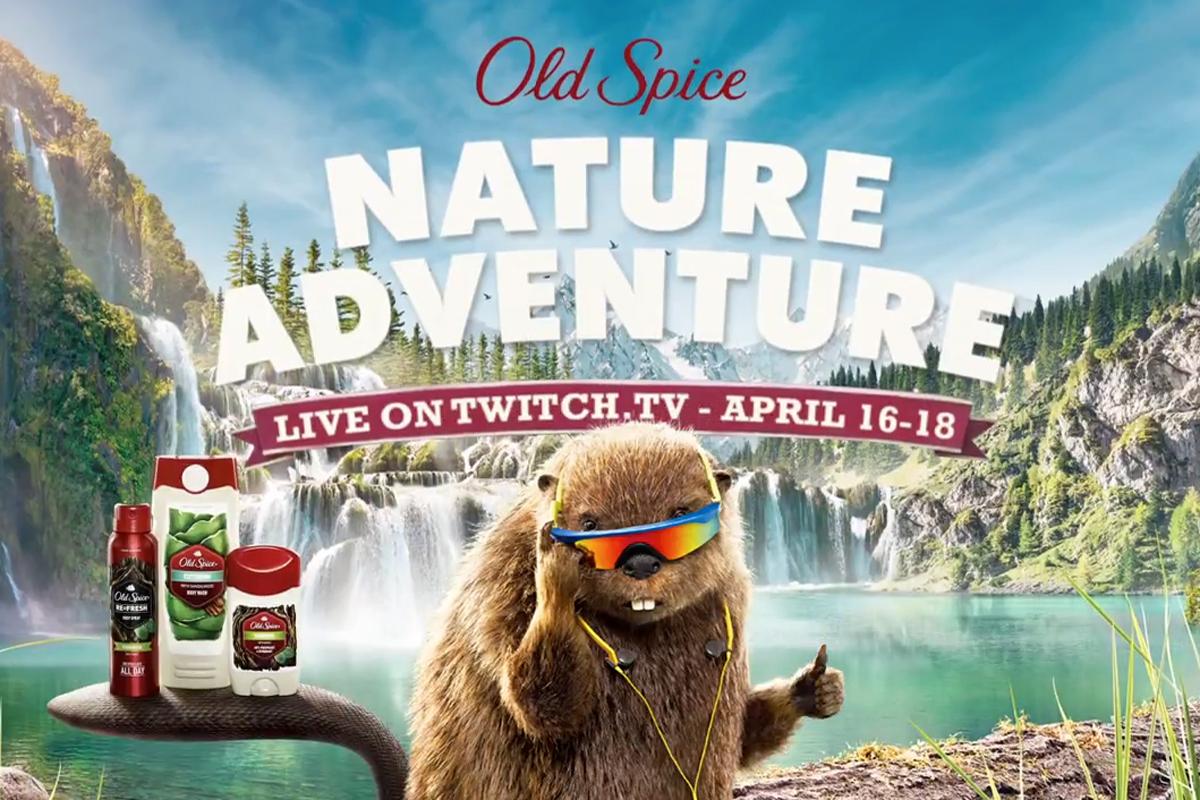 Une aventure dans la nature avec Old Spice et Twitch