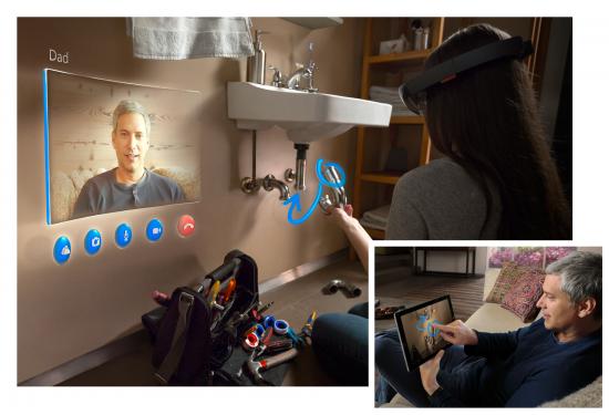 Microsoft HoloLens - Skype