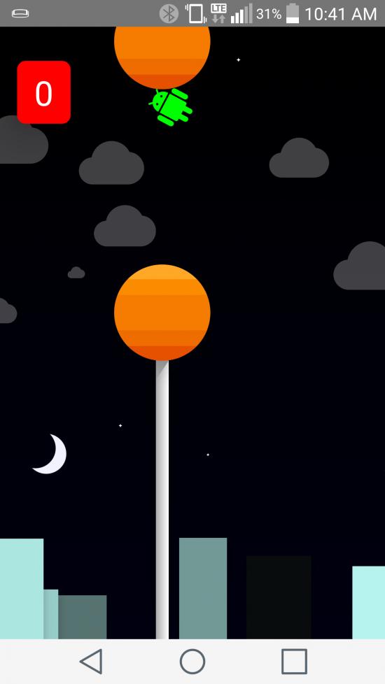 Android Lollipop - 'à la Flappy Bird'