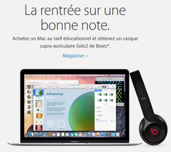 Apple - Retour à l'école 2015